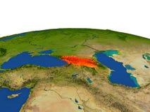 Georgia en rojo de la órbita libre illustration