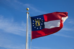 Georgia flag Stock Photography