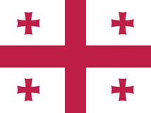 Georgia flag Stock Images