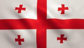 Georgia Flag Imagem de Stock