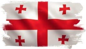 Georgia Flag Fotografia de Stock