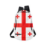 Georgia flag backpack isolated on white Stock Image