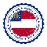 Georgia flag badge. Stock Image