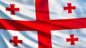 Georgia Flag Bandeira de ondulação da ilustração de Geórgia 3d ilustração stock