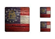 Georgia Flag Buttons Stock Photography