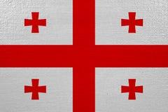 Georgia flag on canvas. Patriotic background. National flag of Georgia royalty free illustration