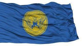 Georgia Flag d'isolement, ondulant sur le fond blanc Images libres de droits