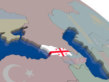 Georgia with flag Royalty Free Stock Image