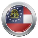 Georgia Flag Silver Icon Immagini Stock