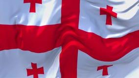 116 Georgia Flag Waving Wind-im ununterbrochenen nahtlosen Schleifen-Hintergrund vektor abbildung