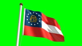 Georgia-Flagge stock abbildung