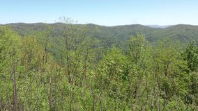 Georgia fort mountain overlook on the way to fort mountain. Overlook on the way to Fort Mountain with mountains and trees stock footage