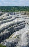 Georgia-Granitbergwerk Lizenzfreies Stockbild