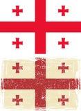 Georgia grunge flag. Vector illustration Royalty Free Stock Photography