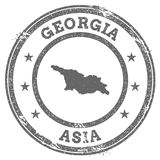 Georgia grunge rubber stamp map and text. Royalty Free Stock Photos