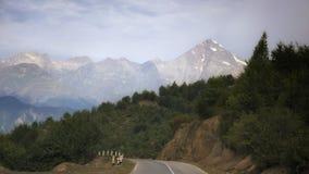 Georgia,Gruzia,the road to Mestia. Georgia,Gruzia,Svaneti region ,the mountain on the way to Mestia stock photography