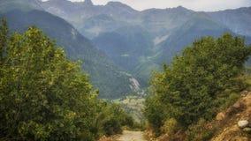 Georgia,Gruzia,the road to Mestia. Georgia,Gruzia,Svaneti region ,the mountains and valleys on the way to Mestia stock image