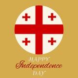 Georgia Independence Day Ilustración del vector Imagenes de archivo