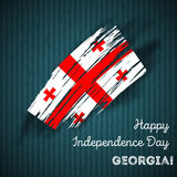 Georgia Independence Day Patriotic Design Photo libre de droits