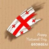 Georgia Independence Day Patriotic Design Photos stock