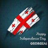 Georgia Independence Day Patriotic Design Image libre de droits