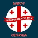 Georgia Independence Day Vector el ejemplo con las banderas para la postal, la bandera, el cartel y el calendario Imagenes de archivo
