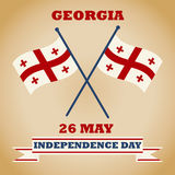 Georgia Independence Day. Vector illustration with flags for postcard, banner, poster and calendar. Georgia Independence Day, May 26. Vector illustration with Stock Image