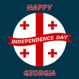 Georgia Independence Day. Vector illustration with flags for postcard, banner, poster and calendar. Georgia Independence Day. 26 May Vector illustration with Stock Images
