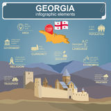 Georgia  infographics, statistical data, sights Stock Images
