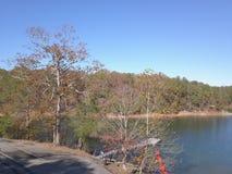 Georgia Lake et arbres image stock