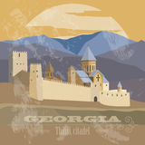 Georgia landmarks. Retro styled image Royalty Free Stock Photos