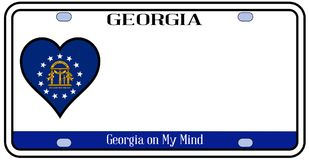 Georgia License Plate illustration stock