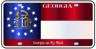Georgia License Plate Flag illustration libre de droits