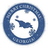 Georgia Map Feliz Navidad Georgia del vintage Foto de archivo libre de regalías