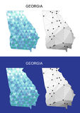Georgia map in geometric polygonal style. Abstract gems triangle. Royalty Free Stock Images