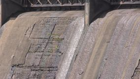 Georgia, Morgan Falls Dam, A close up of water flowing over the Morgan Falls Dam stock footage