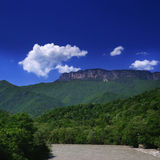 Georgia mountains and river i Stock Photography