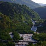 Georgia mountains and river Stock Photos