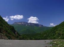 Georgia mountains and river Stock Photo