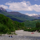 Georgia mountains and river Royalty Free Stock Image