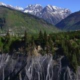 Georgia mountains in summer time Royalty Free Stock Photos