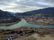 Georgia Mtskheta panorama Arkivbild