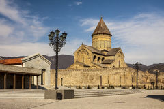 Georgia - Mtskheta - Svetitskhoveli Cathedral of the Living Pil Royalty Free Stock Image