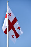 Georgia national flag blown by the wind Stock Images