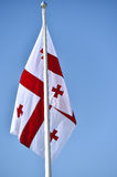 Georgia national flag blown by the wind Royalty Free Stock Image
