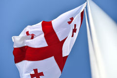 Georgia national flag blown by the wind Stock Image