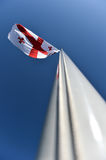 Georgia national flag blown by the wind Stock Photography