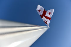 Georgia national flag blown by the wind Royalty Free Stock Photo
