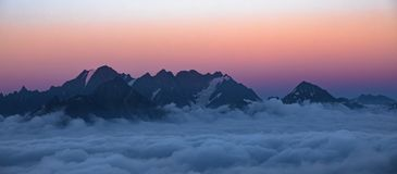 Georgia Nature Mountain-Landschaften Lizenzfreie Stockfotos