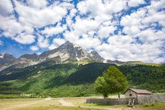 Georgia Nature Mountain-landschappen royalty-vrije stock afbeeldingen